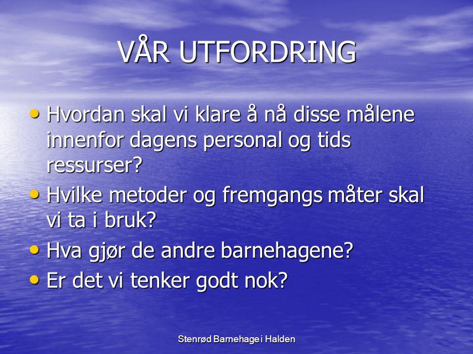 Stenrød Barnehage i Halden HVA GJORDE VI • Fylkesmann i Østfold utlyste midler til å hjelpe kommunene til å være pådriver overfor barnehagen med arbeidet.