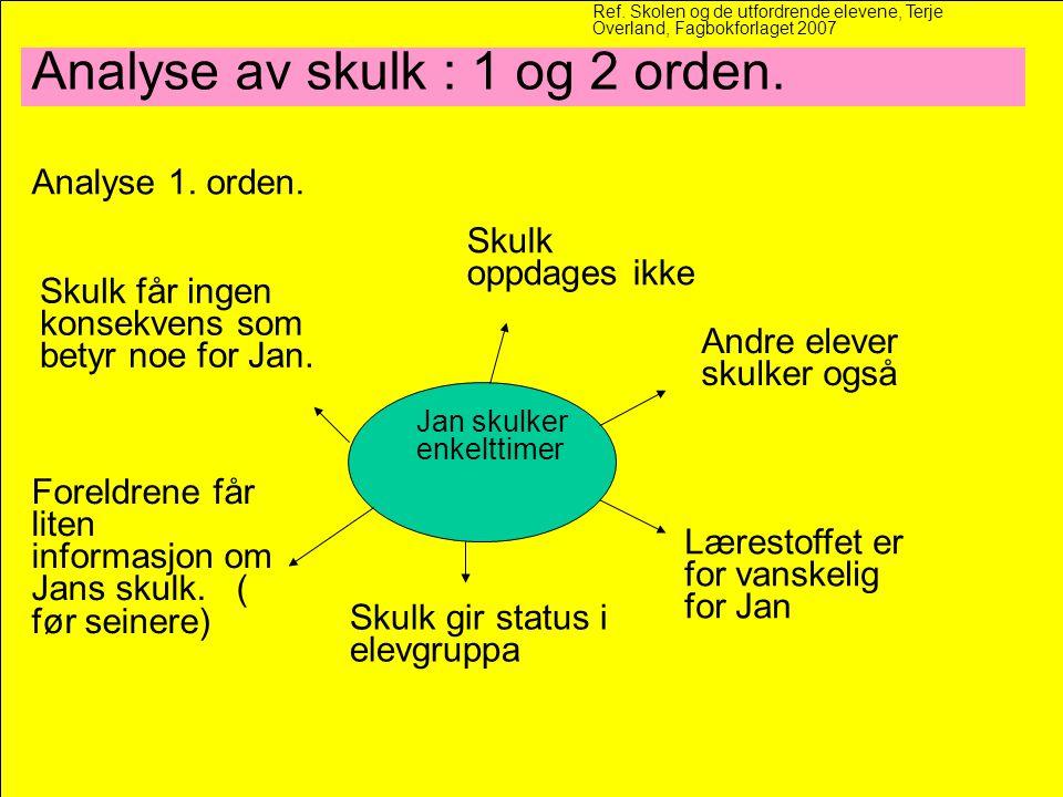 Analyse av skulk : 1 og 2 orden.Analyse 1. orden.