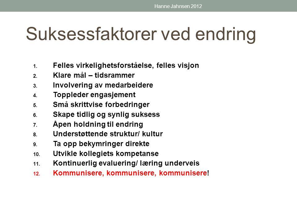 Løft fram suksesshistoriene Hanne Jahnsen 2012
