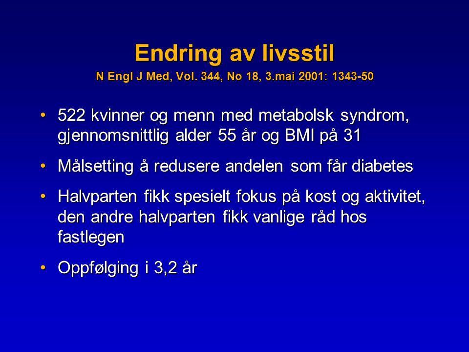 Endring av livsstil N Engl J Med, Vol.