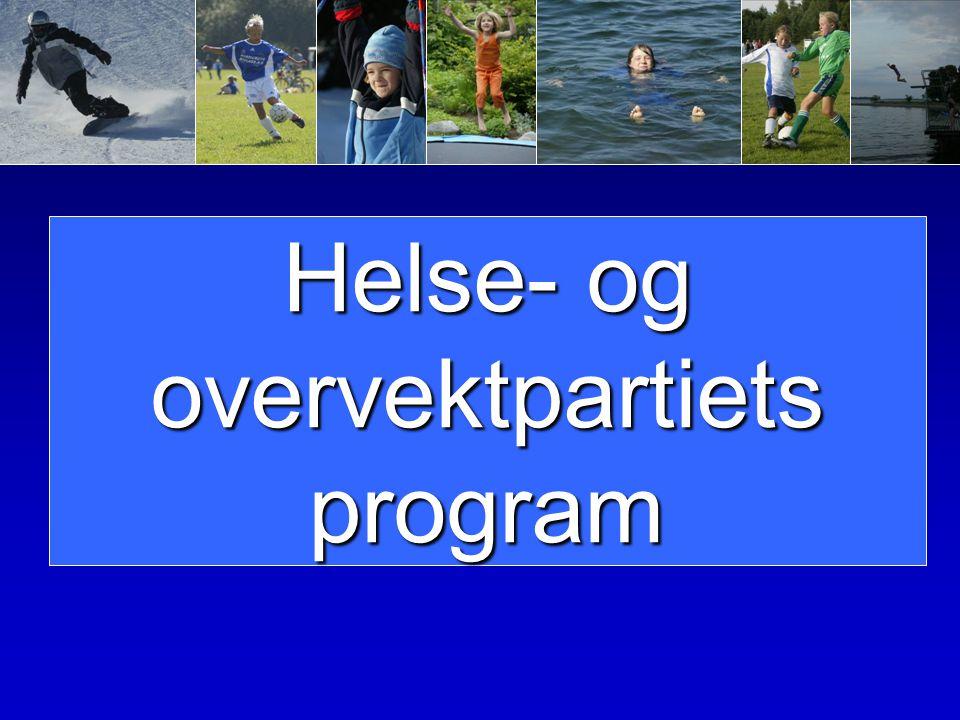 Helse- og overvektpartiets program