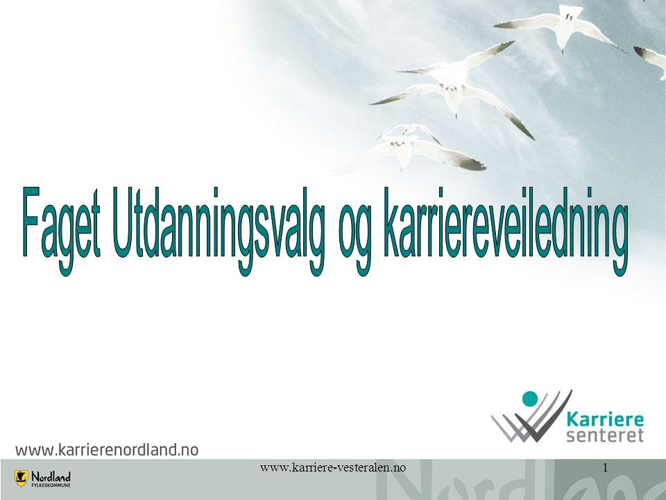 2 Dagens program • Innledning • Karrieresenteret i Vesterålen • Hva er karriereveiledning.