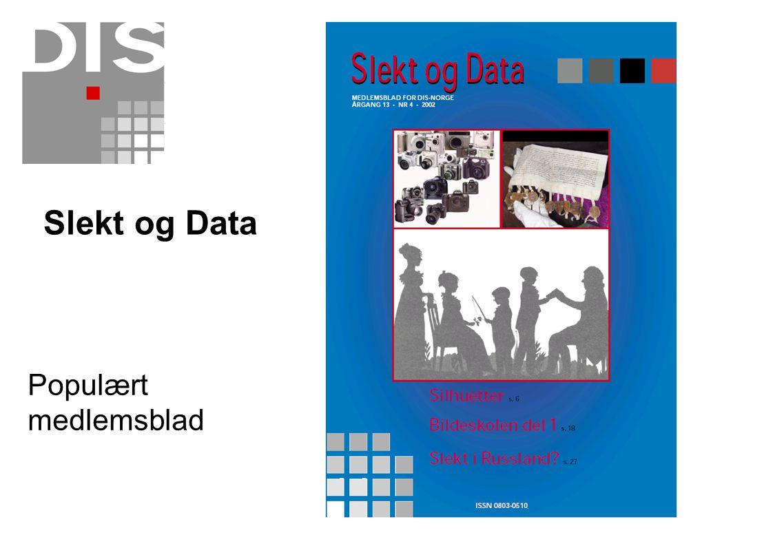 Populært medlemsblad Slekt og Data