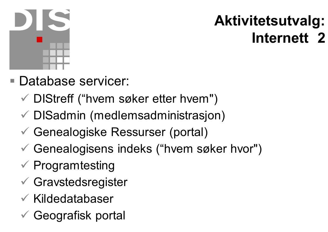 """ Database servicer:  DIStreff (""""hvem søker etter hvem"""