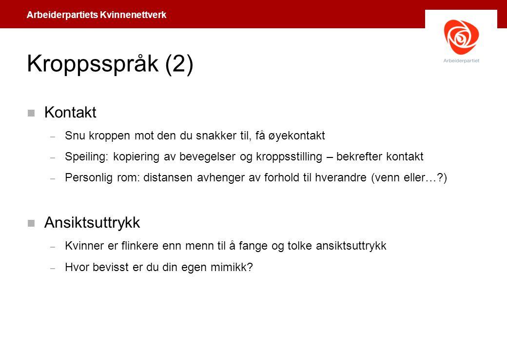 Arbeiderpartiets Kvinnenettverk Vis aktsomhet.