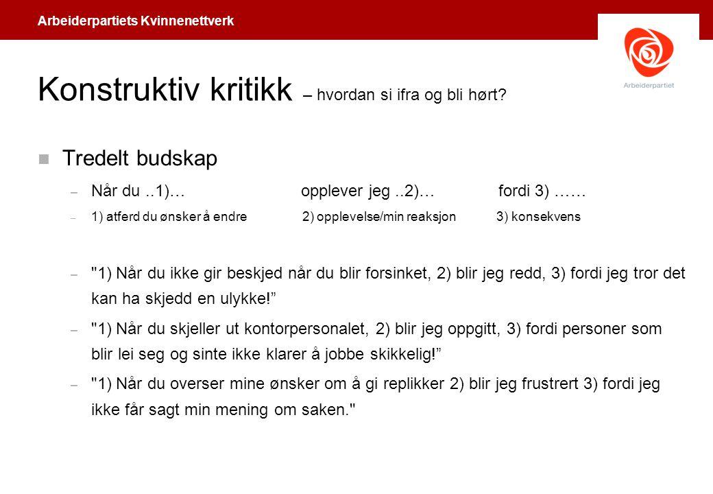 Arbeiderpartiets Kvinnenettverk Hjelp, en journalist.