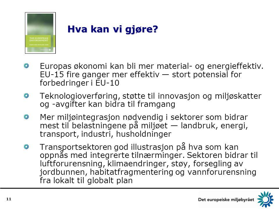 11 Hva kan vi gjøre. Hva kan vi gjøre. Europas økonomi kan bli mer material- og energieffektiv.