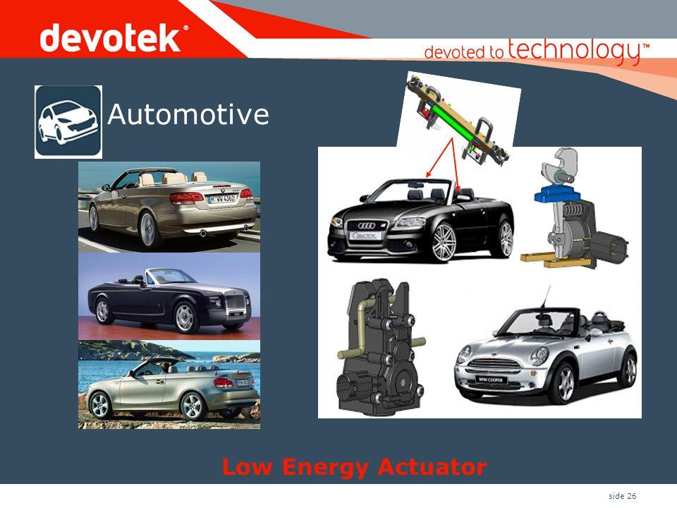 side 26 Automotive Low Energy Actuator