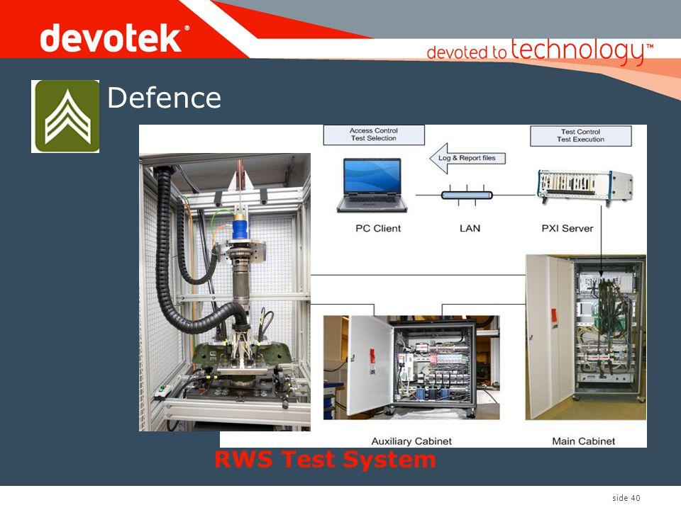 side 40 RWS Test System Defence