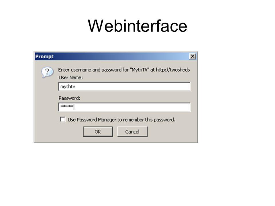 Webinterface