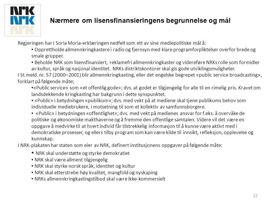 23 Fakta om NRK • NRKs lisensinntekter økte med 33% fra 2002 til 2009.