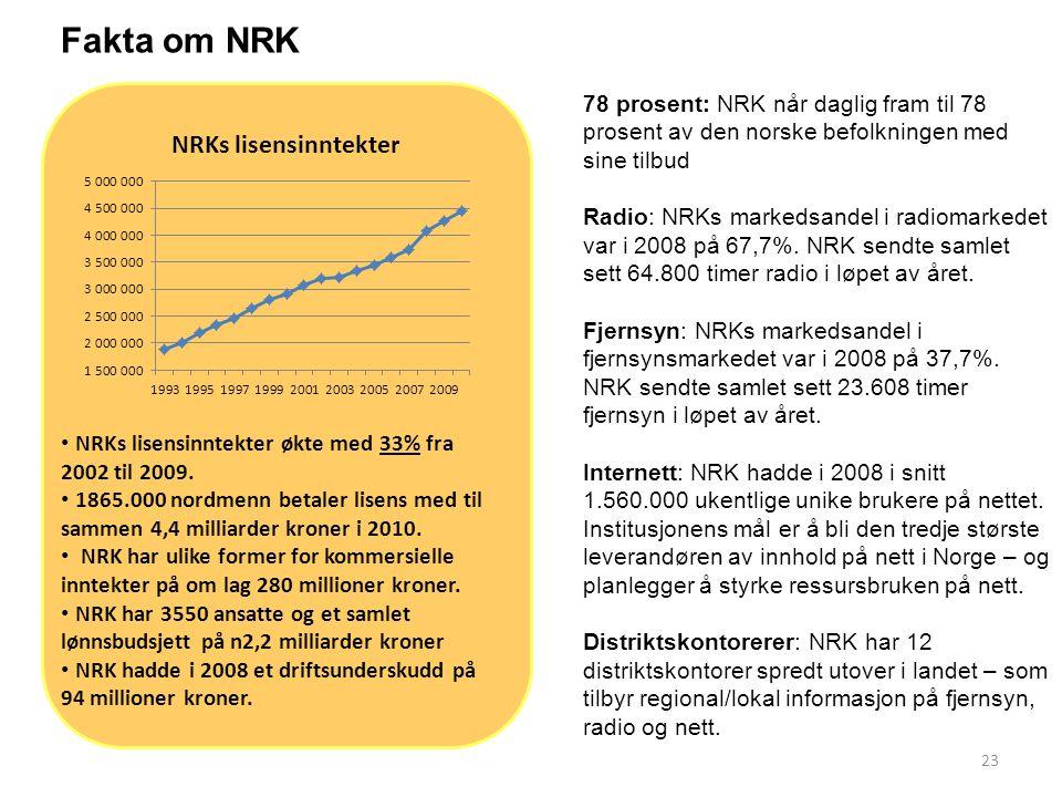 24 UTVALGET MENER: Å opprettholde sterke allmennkringkastere – lisensfinansierte og kommersielle - i Norge er et viktig og riktig mediepolitisk.