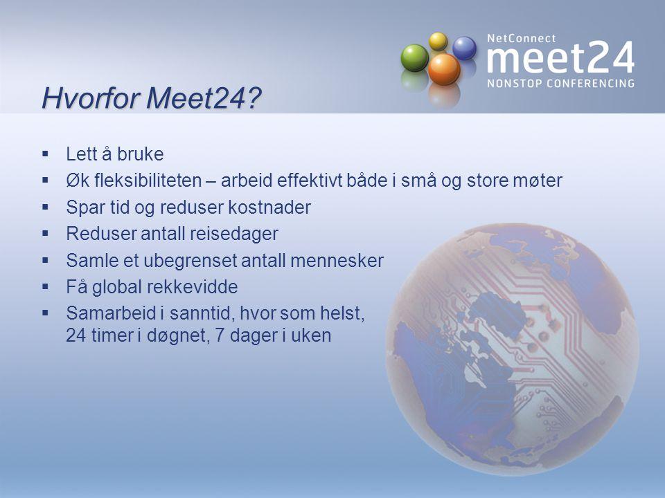 Hvorfor Meet24.
