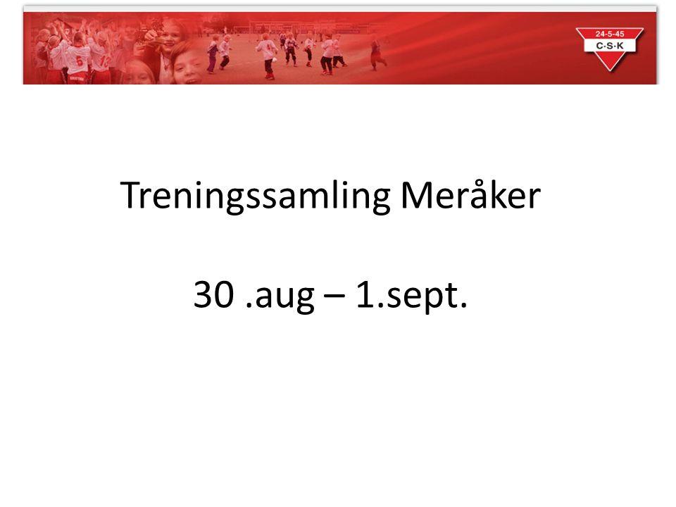 Treningssamling Meråker 30.aug – 1.sept.
