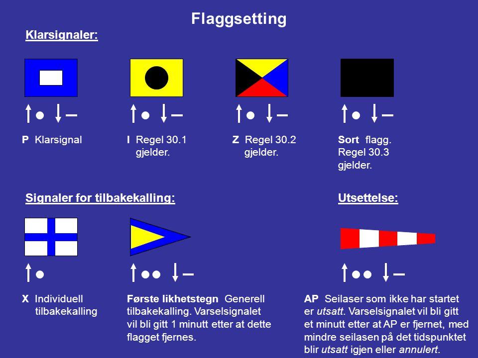 26 STARTE SEILASER Seilaser skal startes ved å bruke de følgende signaler.