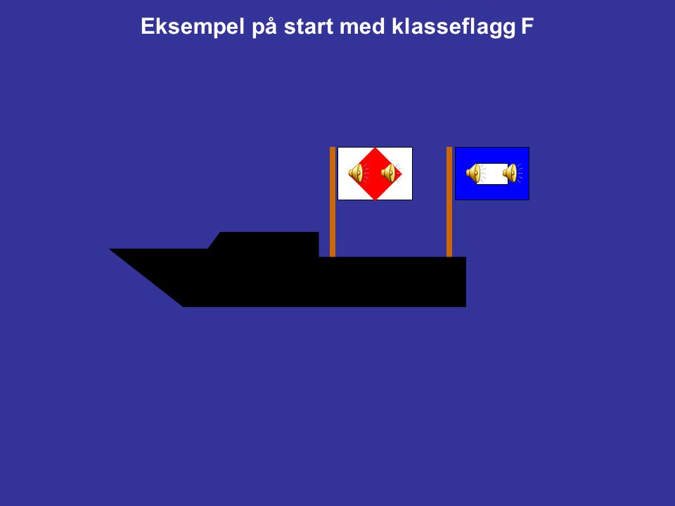 Flaggsetting P KlarsignalI Regel 30.1 gjelder.Z Regel 30.2 gjelder.