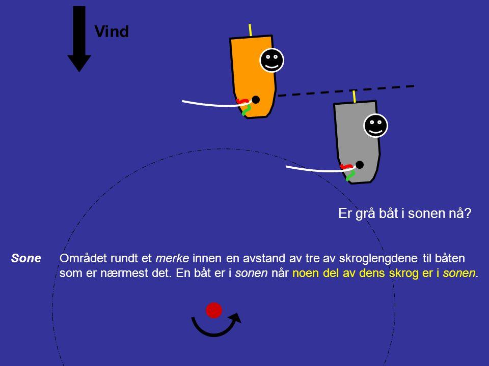 Vind Babord halser og babord halser + overlapp (Anta: ikke bakenfra innenfor to båtlengder, dvs.