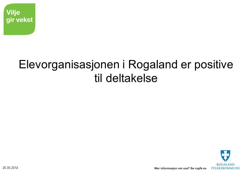 26.06.2014 Elevorganisasjonen i Rogaland er positive til deltakelse