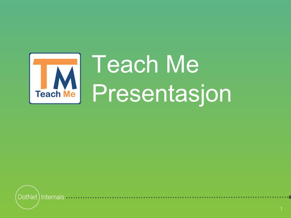 2 Agenda • Hva er Teach Me • Teach Me Editoren • Utdeling og innlevering SLK • Teach Me – Formål og opprinnelse • Råd for bruk av Teach Me • Eksempel Teach Me innhold 2