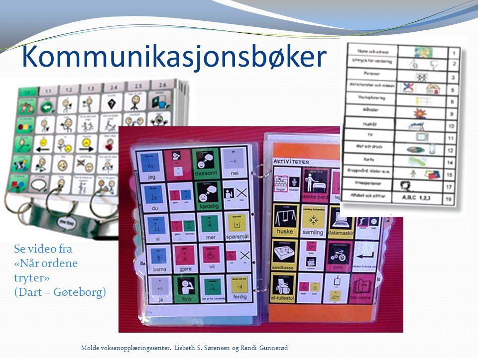 Kommunikasjonsbøker Se video fra «Når ordene tryter» (Dart – Gøteborg)