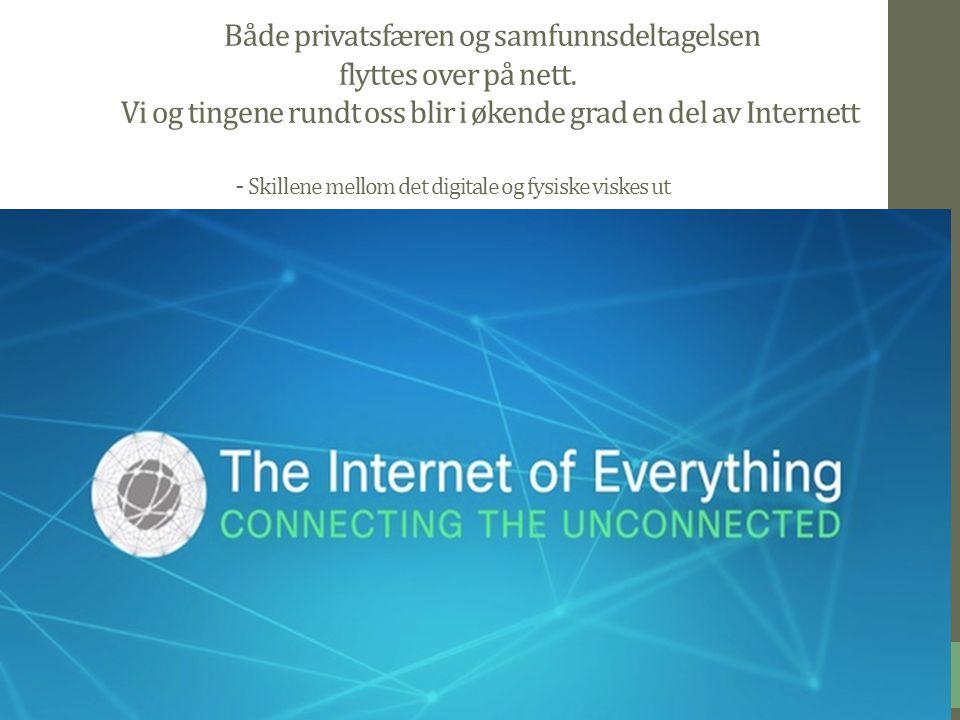 10 Både privatsfæren og samfunnsdeltagelsen flyttes over på nett.