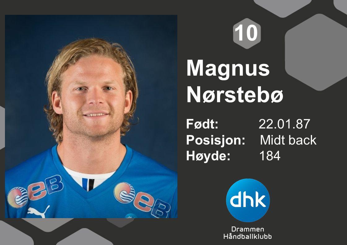 Magnus Nørstebø Født: 22.01.87 Posisjon: Midt back Høyde:184 10