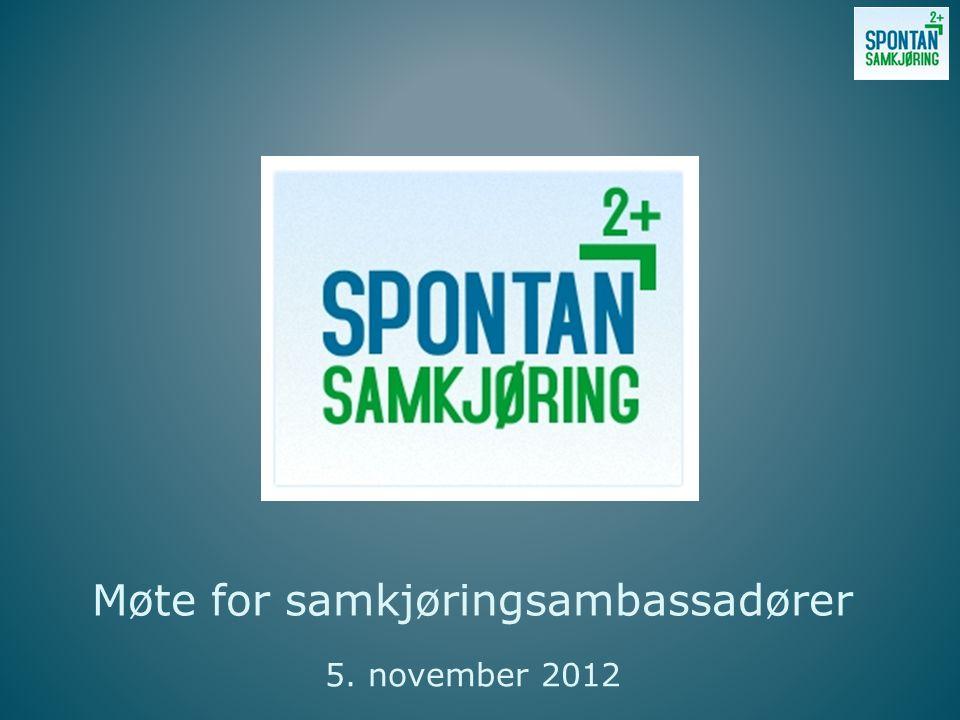 Møte for samkjøringsambassadører 5. november 2012