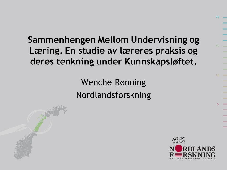 Sammenhengen Mellom Undervisning og Læring.