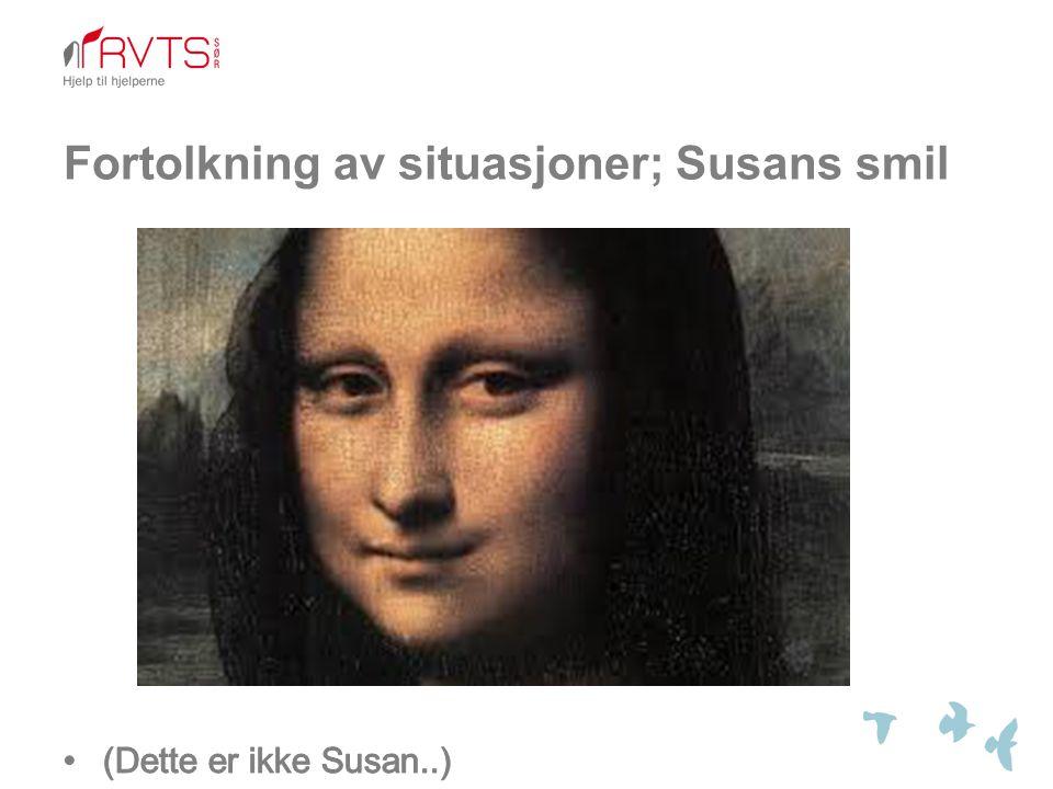 Fortolkning av situasjoner; Susans smil