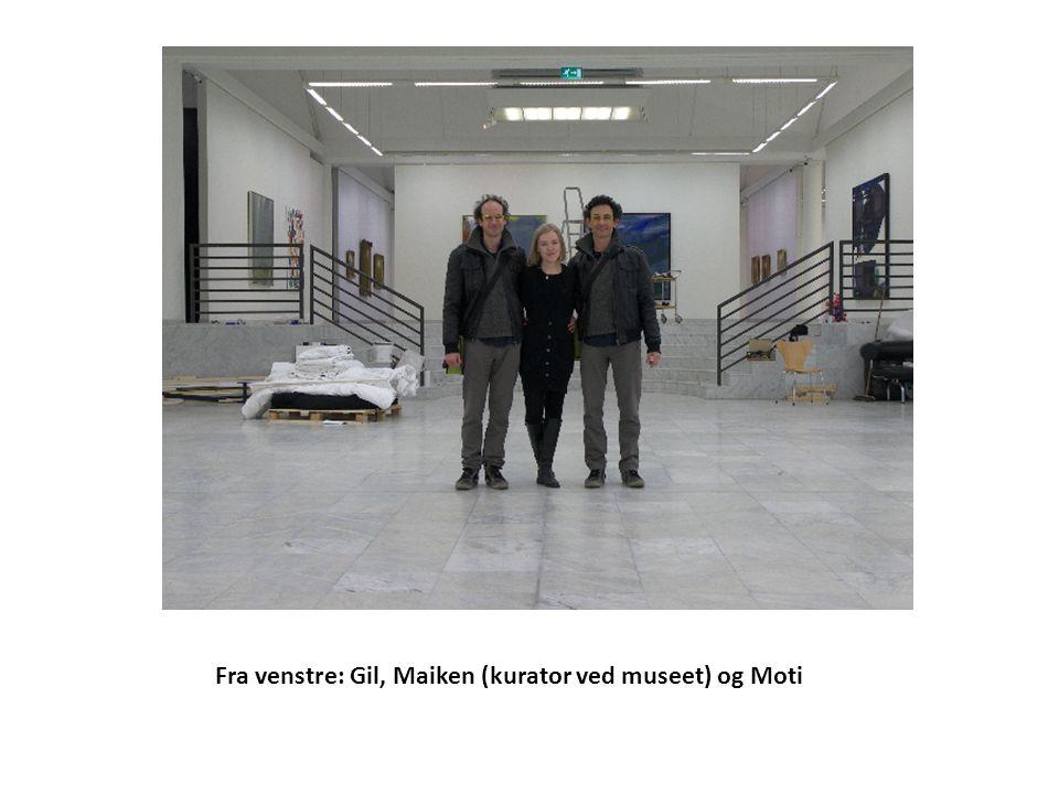 Fra venstre: Gil, Maiken (kurator ved museet) og Moti
