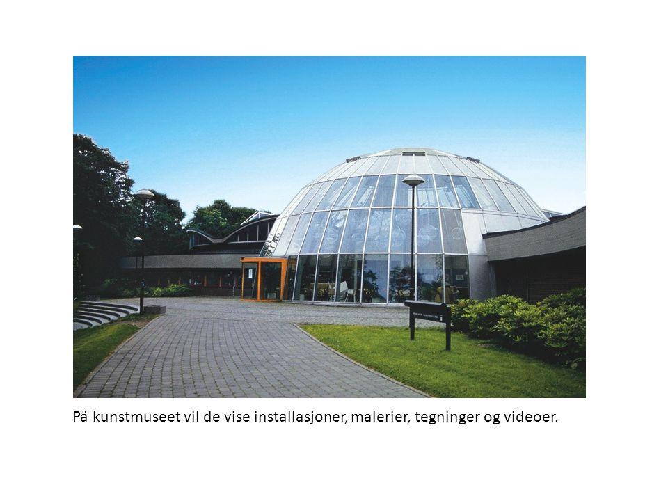 På kunstmuseet vil de vise installasjoner, malerier, tegninger og videoer.