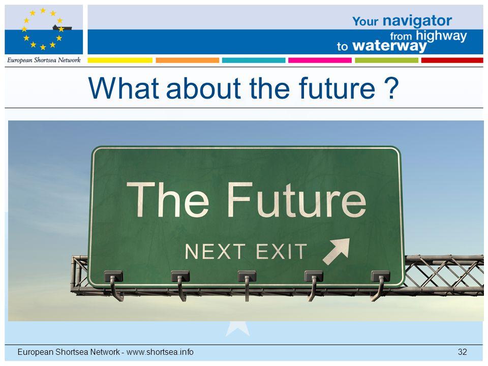 What about the future ? 32European Shortsea Network - www.shortsea.info