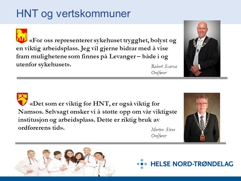 HNT og vertskommuner «For oss representerer sykehuset trygghet, bolyst og en viktig arbeidsplass. Jeg vil gjerne bidrar med å vise fram mulighetene so