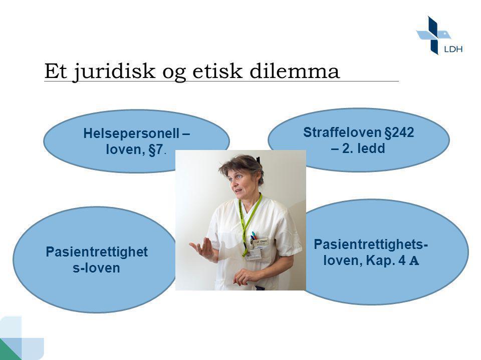 • Pasientrettighetsloven Kap.4 og Kap.