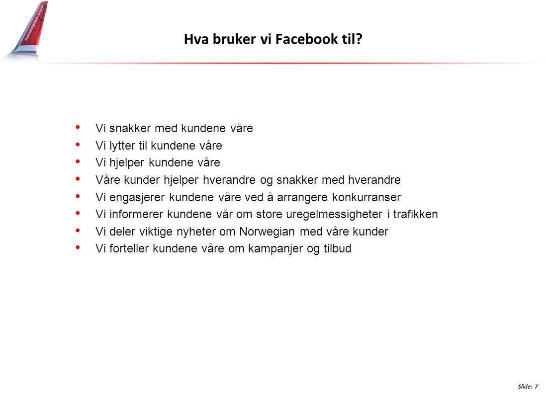 Hva bruker vi Facebook til.