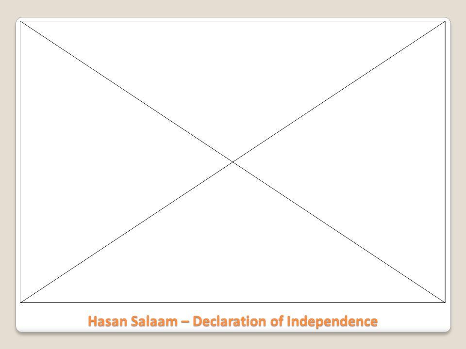 Hasan Salaam – Declaration of Independence