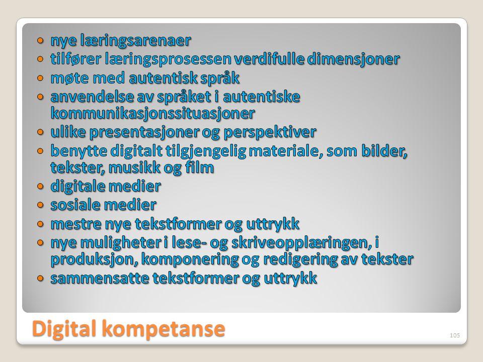 Digital kompetanse 105