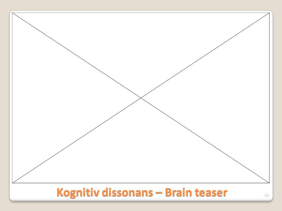 Kognitiv dissonans – Brain teaser 19