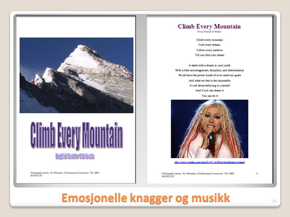 Emosjonelle knagger og musikk 22