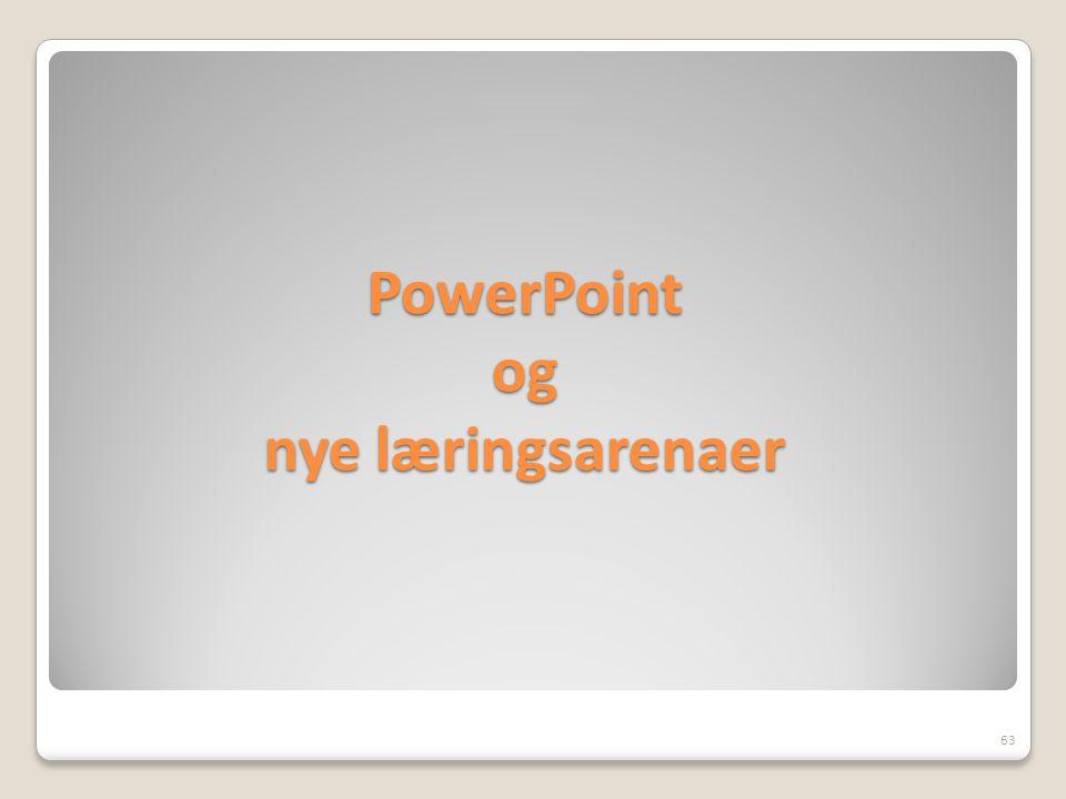 PowerPoint og nye læringsarenaer 63