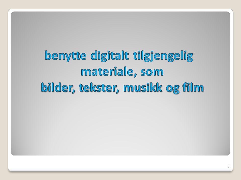 Digitale sanger med bilder, tekst, animasjon og lyd 68