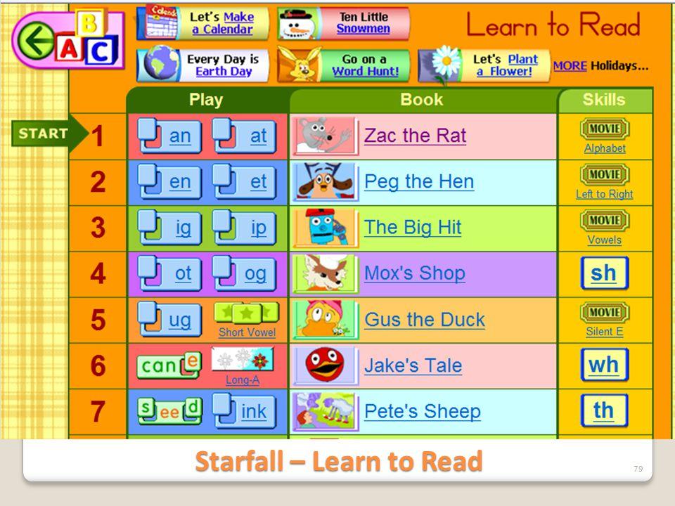 Starfall – Learn to Read 79