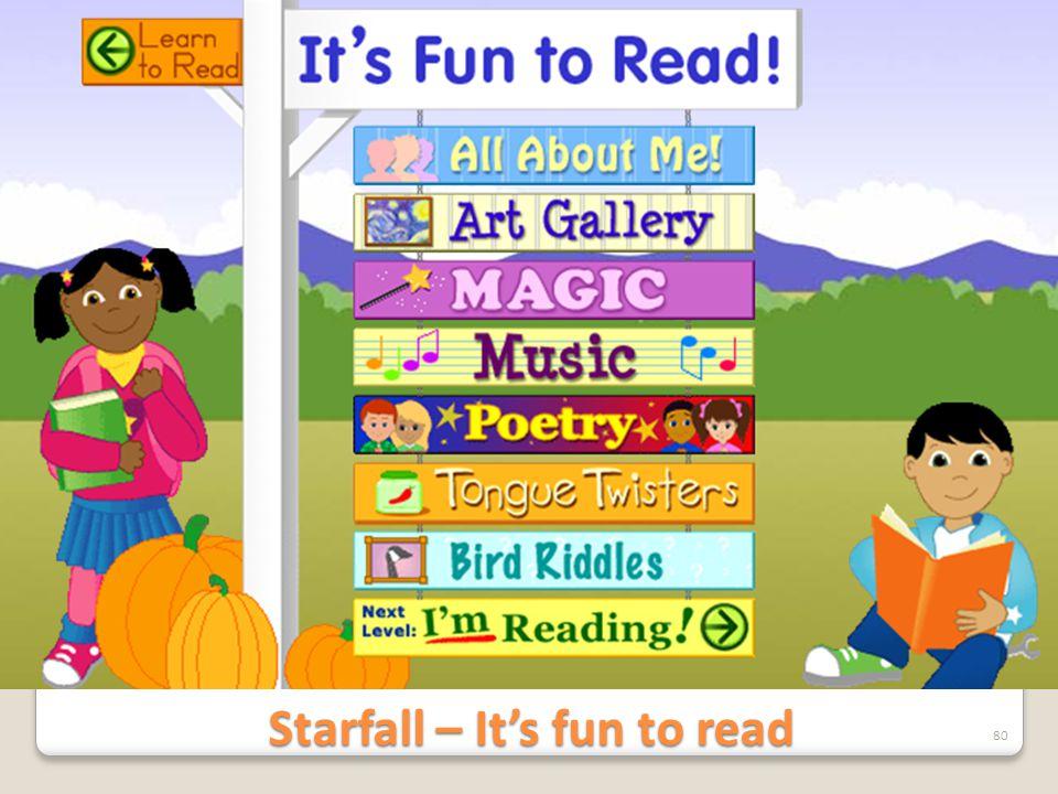 Starfall – It's fun to read 80