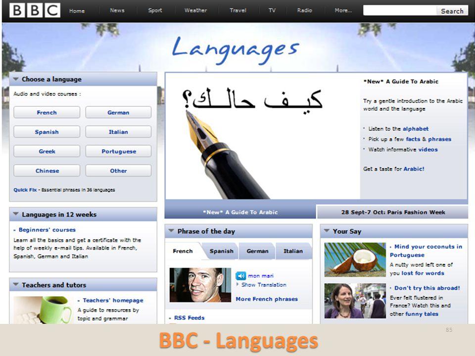 BBC - Languages 85
