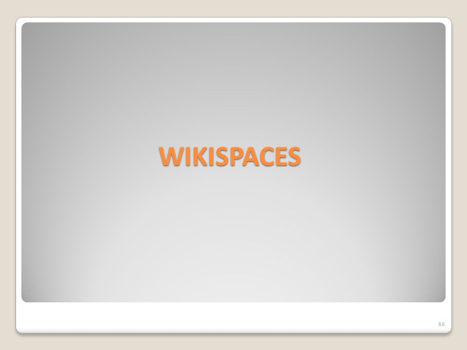 WIKISPACES 86