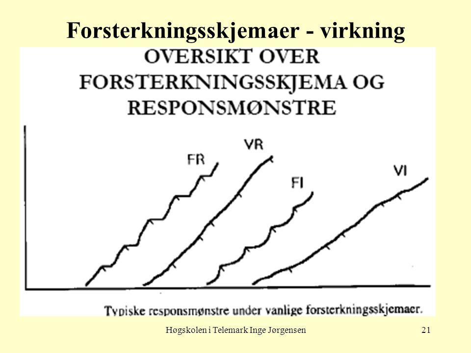 Høgskolen i Telemark Inge Jørgensen21 Forsterkningsskjemaer - virkning