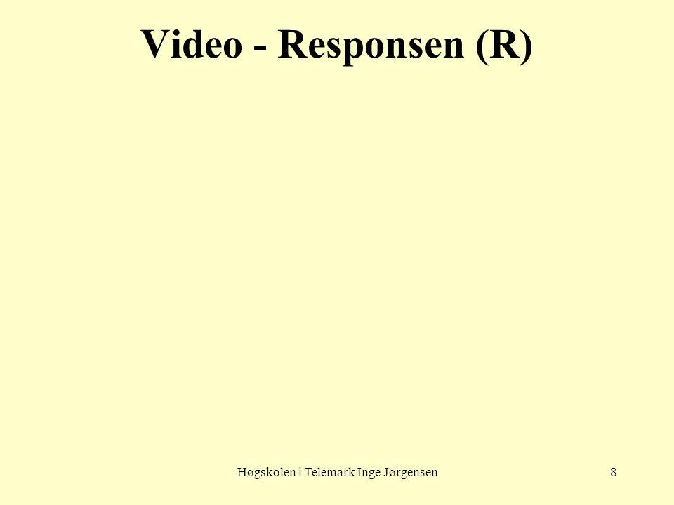 Høgskolen i Telemark Inge Jørgensen8 Video - Responsen (R)