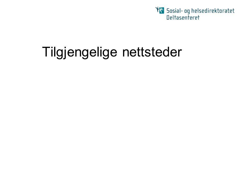 Nettsteder - oversikt Teknologi og standarder Design Publiserings- løsning (CMS) Innhold