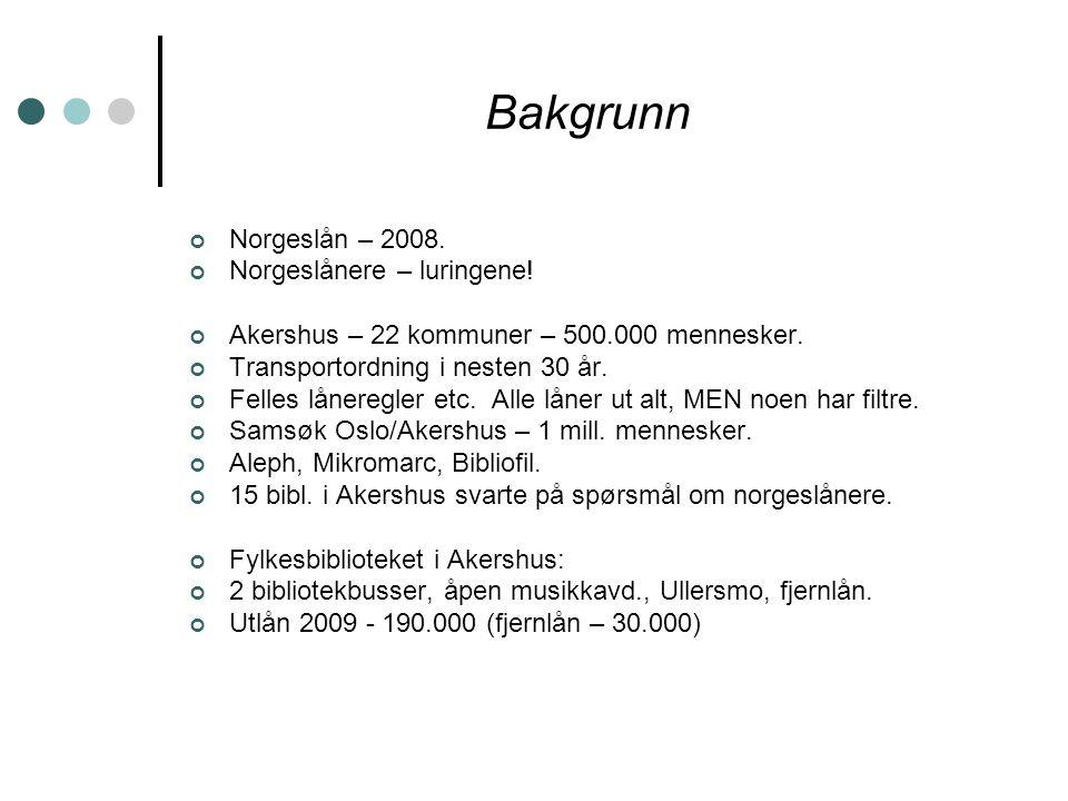 Bakgrunn Norgeslån – 2008. Norgeslånere – luringene.