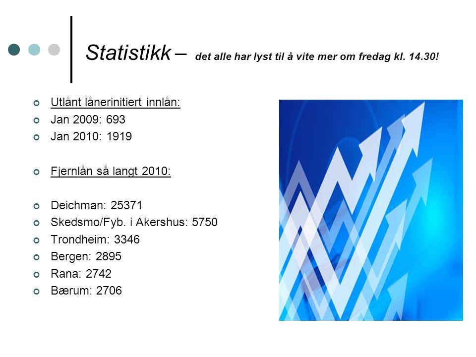 Statistikk – det alle har lyst til å vite mer om fredag kl.
